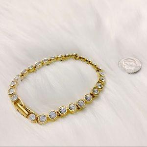 swarovski authentic vintage gold crystal bracelet
